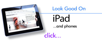 iPad and iPhone optimized website templates