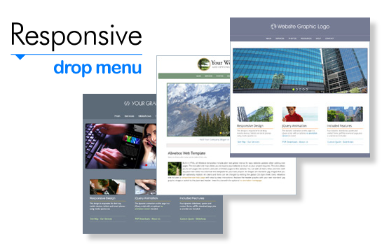 Responsive HTML Website Templates