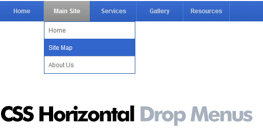 Editing horizontal css dropdown menus horizontal drop menu sample changing pronofoot35fo Image collections