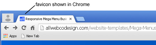 Adding a Favicon in the browser address bar