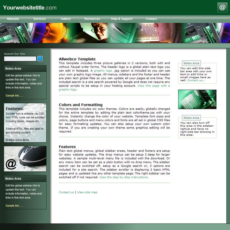 website templates allwebco exec tech drop menu web templates