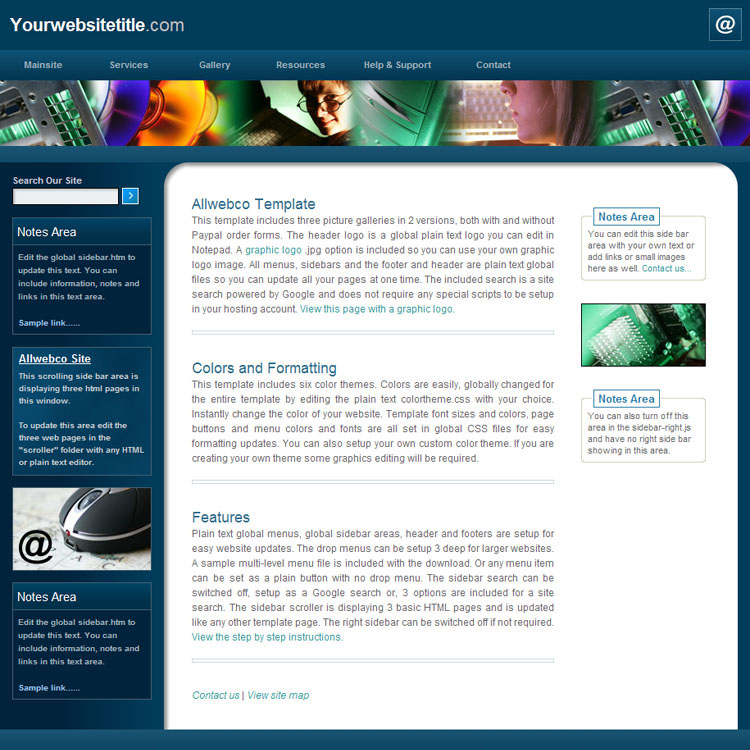 Website Templates Allwebco Exec Tech Drop Menu Web Templates - Information website template